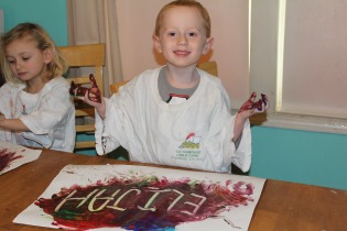 DAY CARE FINGER PAINT COOKING 009