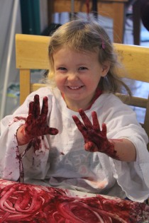 DAY CARE FINGER PAINT COOKING 016