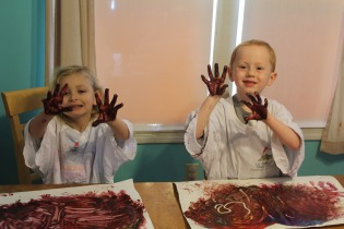 DAY CARE FINGER PAINT COOKING 017