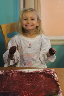 DAY CARE FINGER PAINT COOKING 021