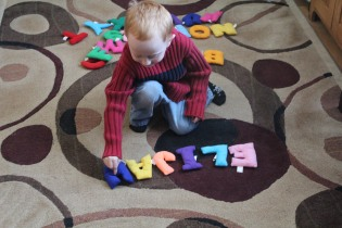 DAYCARE LETTERS, CRAFTS SLEDDING DEC 8 2012 008