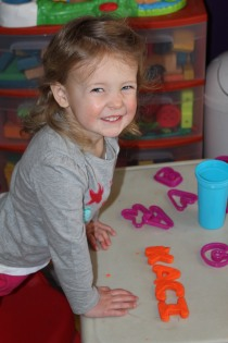 DAYCARE PAINTING TUNNEL PLAY DOH MARCH 5 2013 012