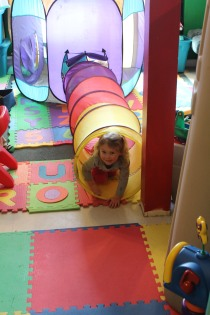 DAYCARE PAINTING TUNNEL PLAY DOH MARCH 5 2013 023