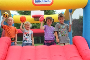 DAYCARE BOUNCE HOUSE CATERPILLAR JULY 9 2013 051